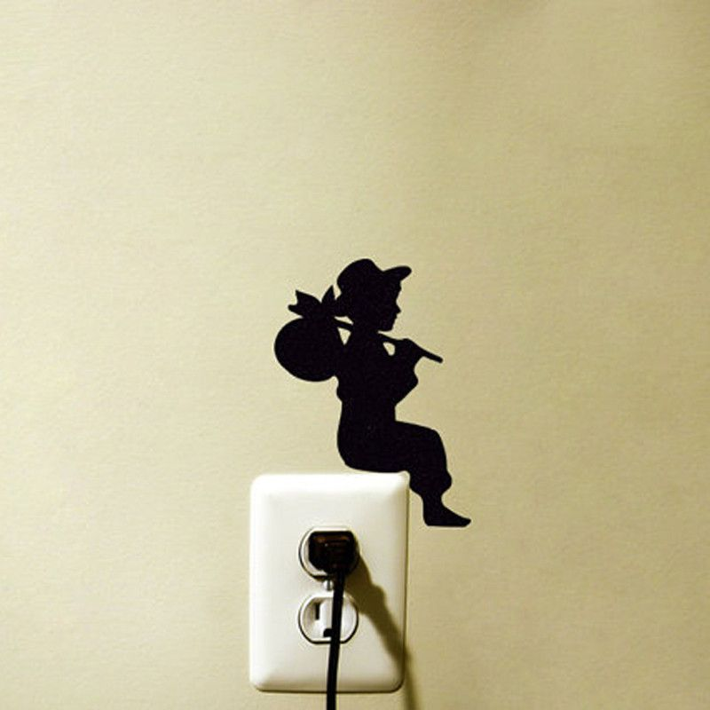 Aliexpress Com Buy Boy Silhouette Wall Sticker For Powerpoints And Light Switches Wall Decal Removable Hom Kids Room Paint Vinyl Wall Art Kids Room Wallpaper