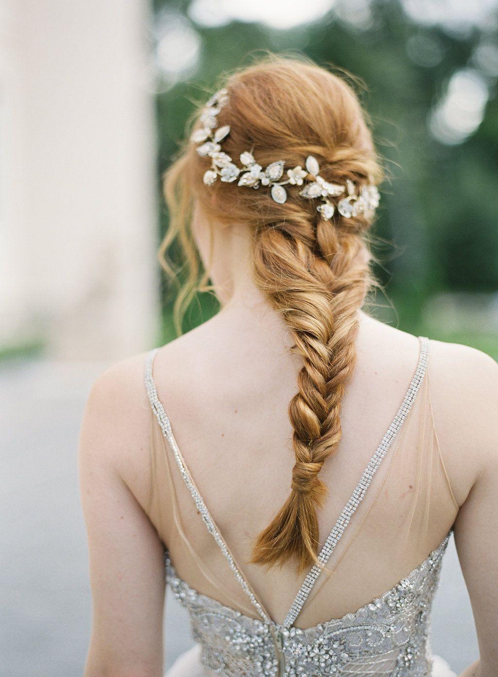 Enchanted Garden Bridal Inspiration Bridal Fishtail Braid