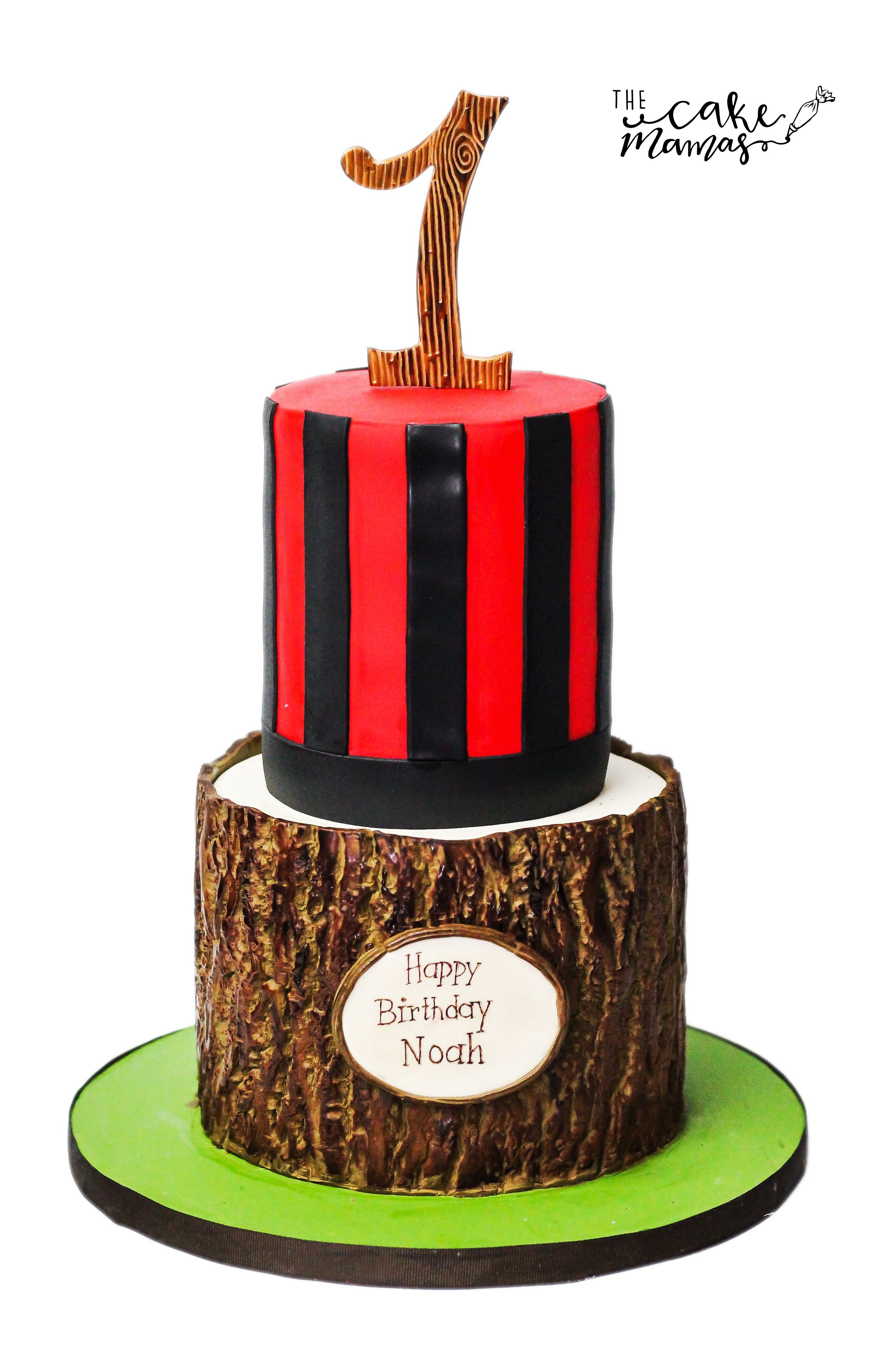 Hunting rustic themed birthday cake! Call or email to book