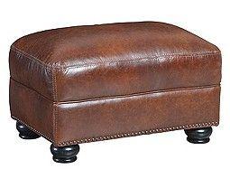 Potenza Leather Ottoman