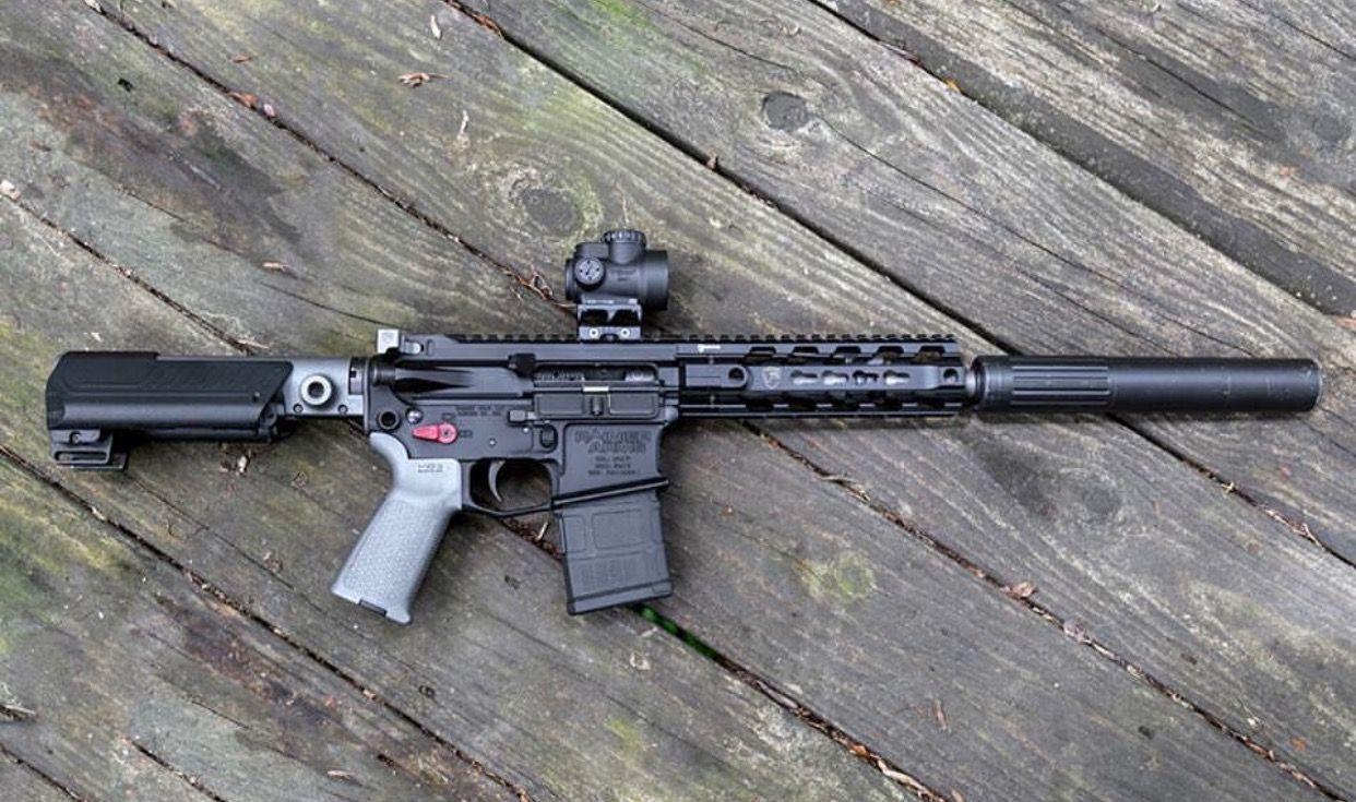 Suppressed AR-15 5.56/.223