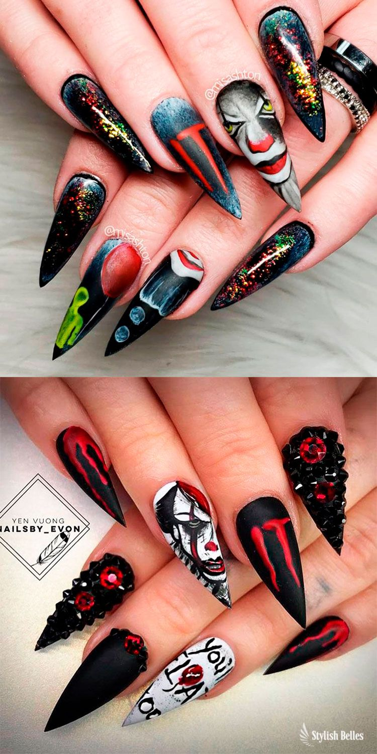 The Best Halloween Nail Designs In 2018 Stylish Belles Halloween Nail Designs Halloween Acrylic Nails Horror Nails