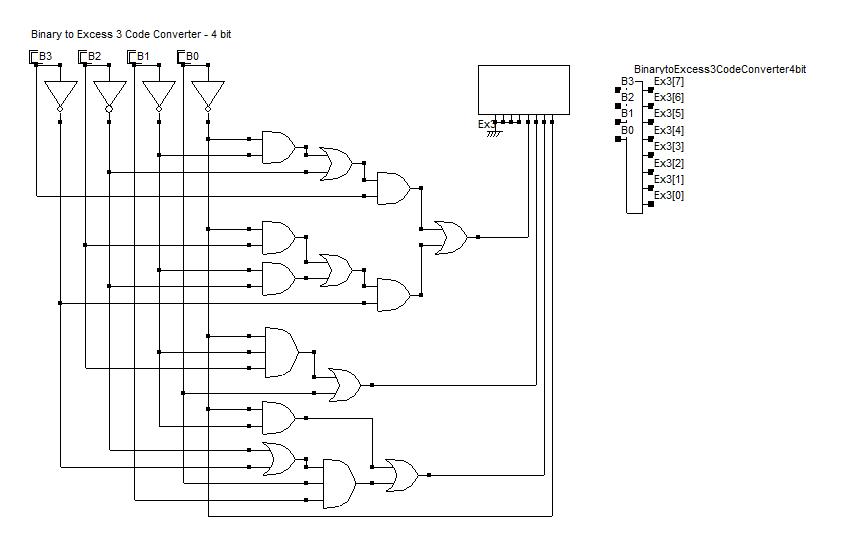 Binary (BCD) to Excess 3 code converter - 4-bit | Coding, Converter, Circuit  diagram | Bcd To Excess 3 Logic Diagram |  | Pinterest