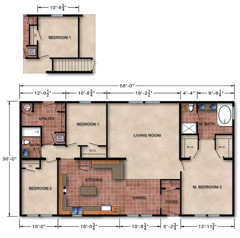 Michigan ranch modular home floor plan 170 home ideas for Small house plans michigan