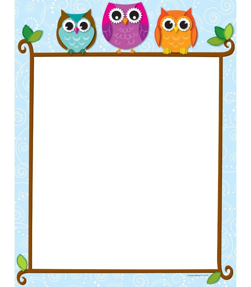 Colorful Owls on a Branch Computer Paper | Klas | Pinterest ...
