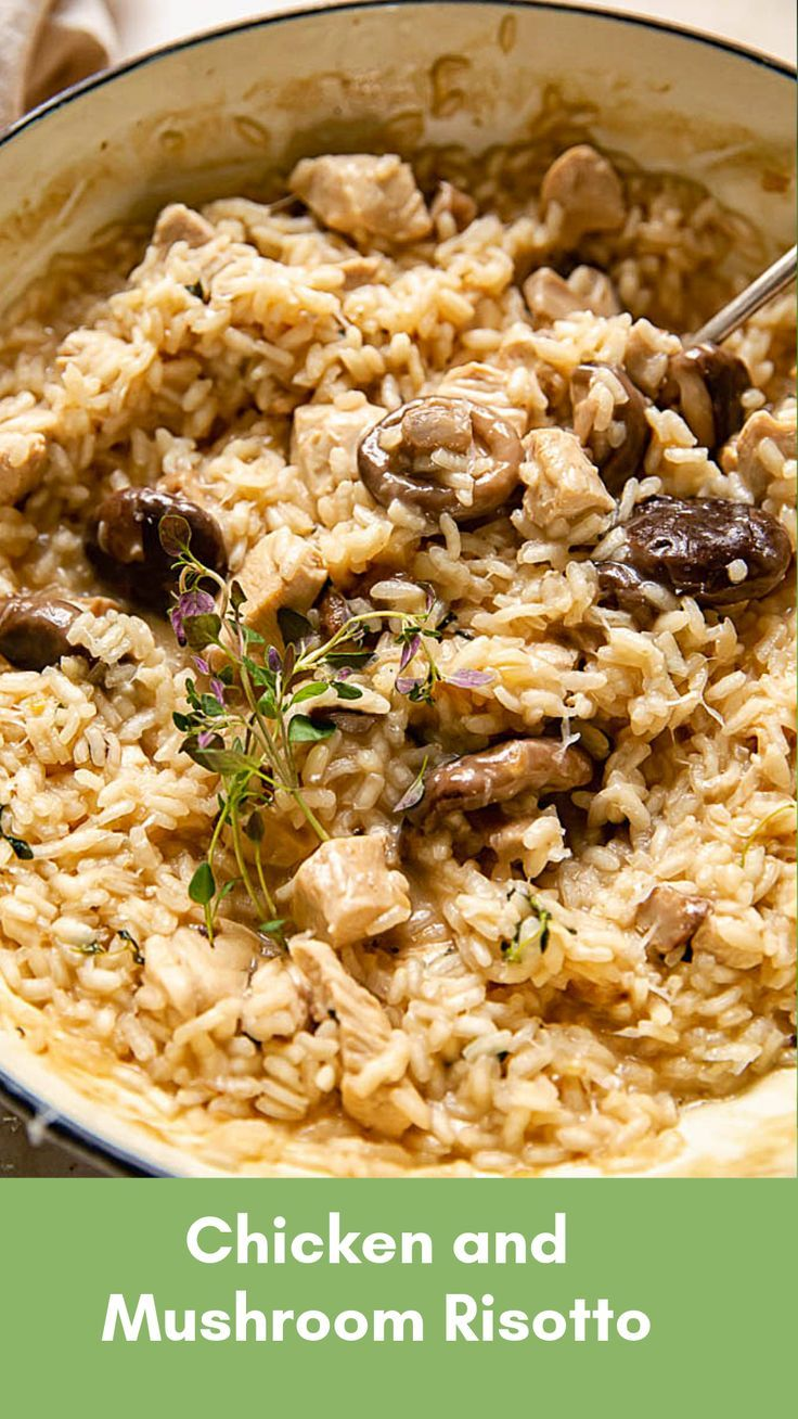 Photo of Chicken Risotto with Mushrooms and Thyme