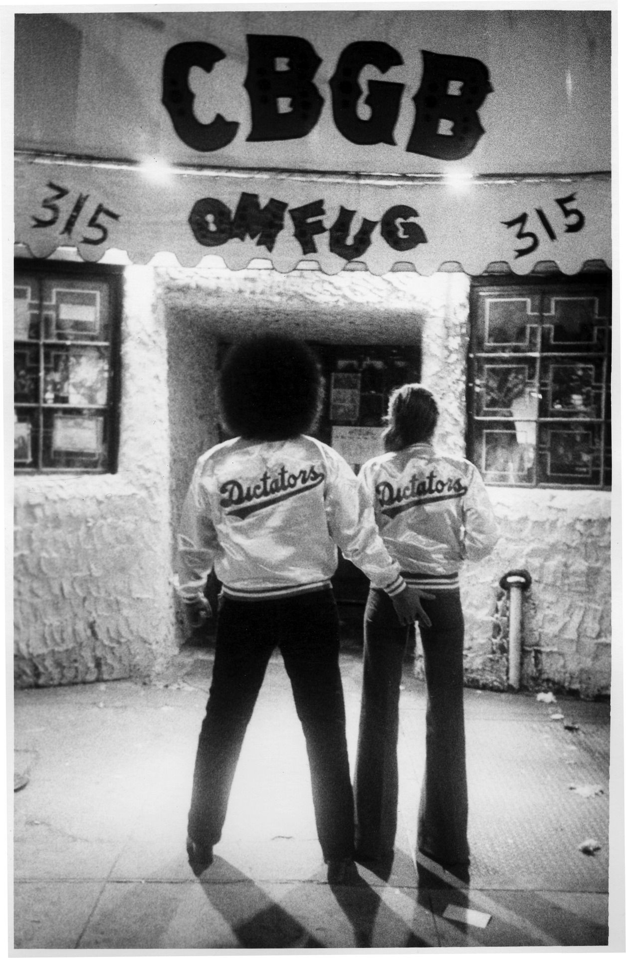 Richard Manitoba fromThe Dictators and his girlfriend,CBGB's, New York City, 1976,by Godlis