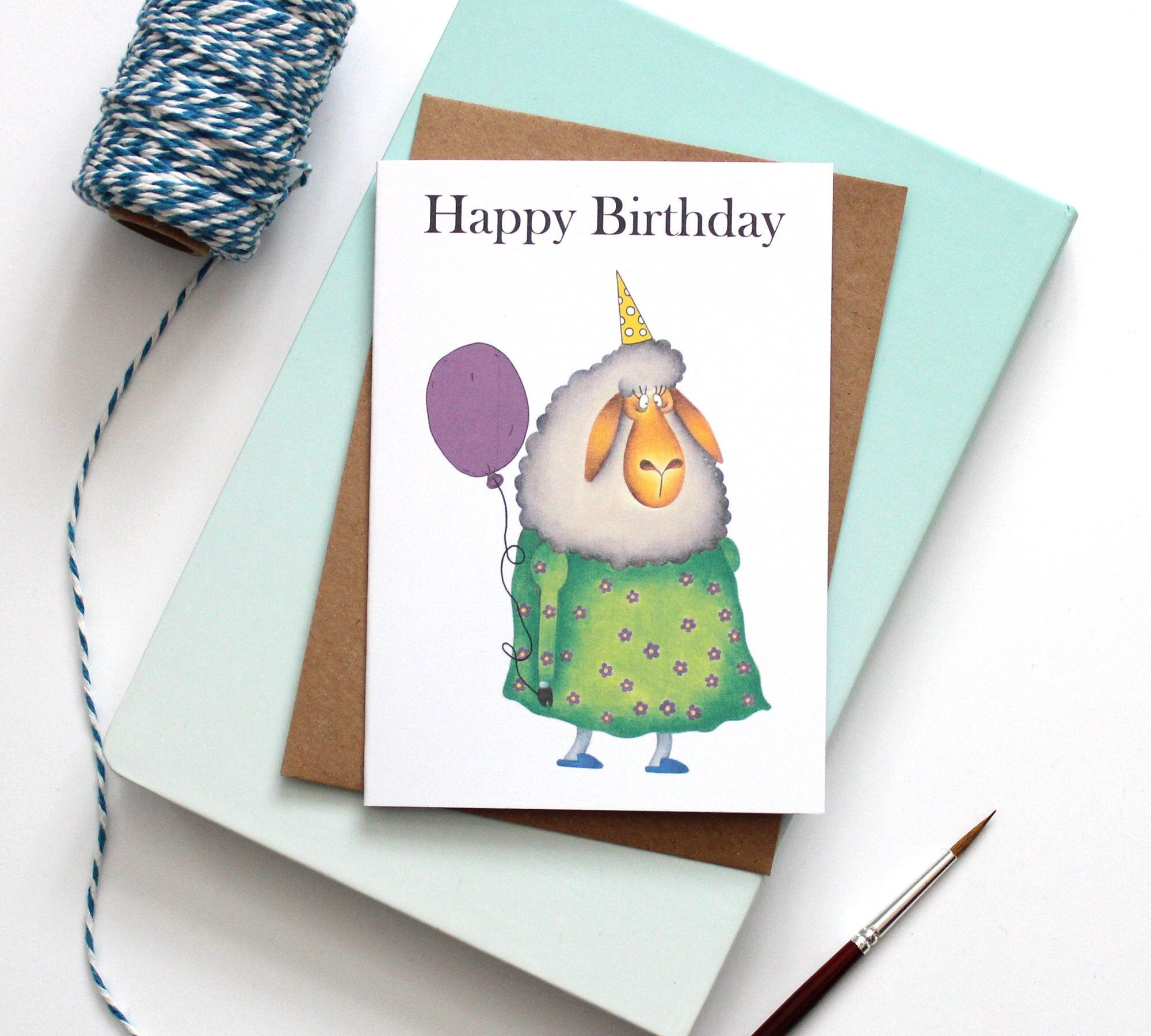 Happy Birthday Greeting Card Birthday Card Note Card Etsy Birthday Greeting Cards Happy Birthday Greeting Card Happy Birthday Greetings