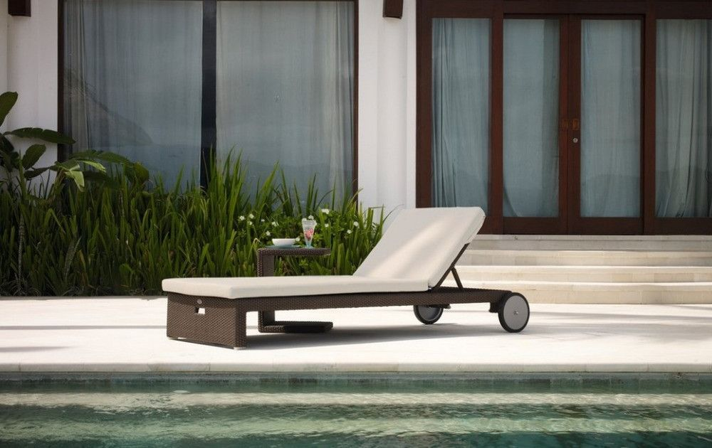 2017 All Weather Miha Outdoor Chaise Lounge Chair with Wheels : all weather chaise lounge chairs - Sectionals, Sofas & Couches