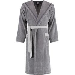 Photo of Marc O'Polo bathrobe unisex hood melange navy / light silver – Xl Marc O'Polo