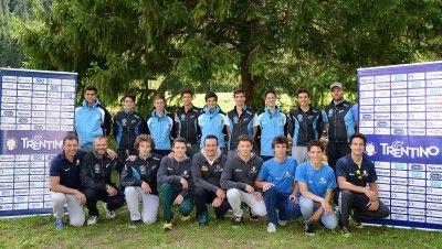 Le squadre di sci alpino del Comitato Trentino