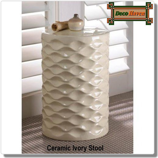 Ceramic Ivory Stool This Beautiful Ceramic Stool Works