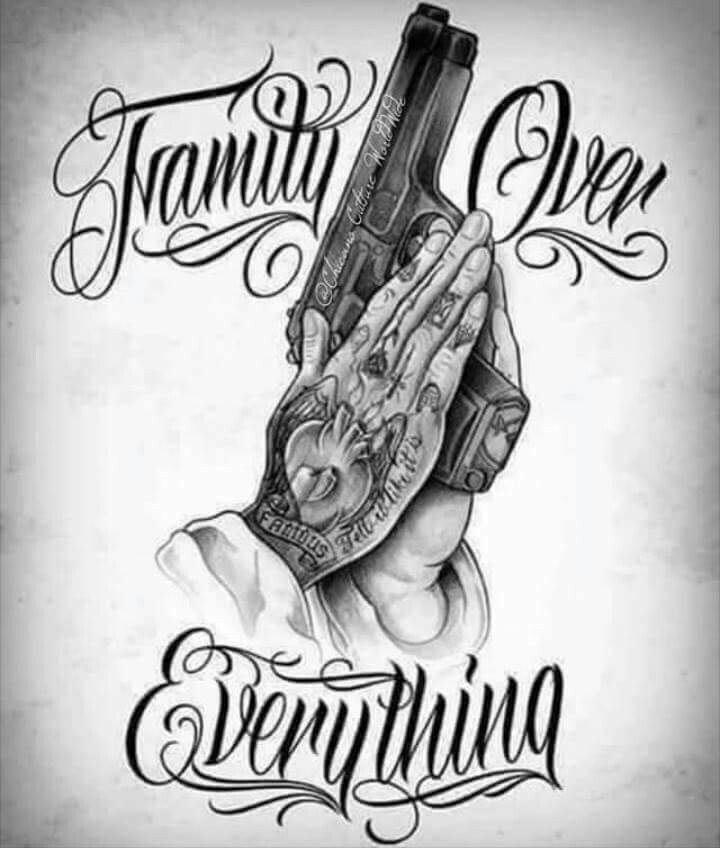 Nice Tattoos A Tattoo Awesome Drawings Clown Gun Pretty Chicano Art Gangster