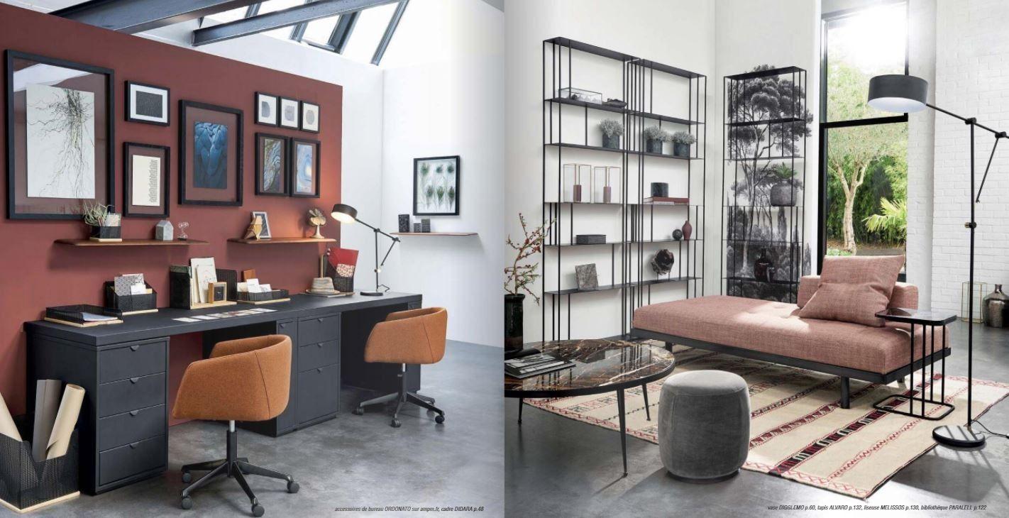 meubles ampm fr   tete de lit grise maison du monde ateliercorduant