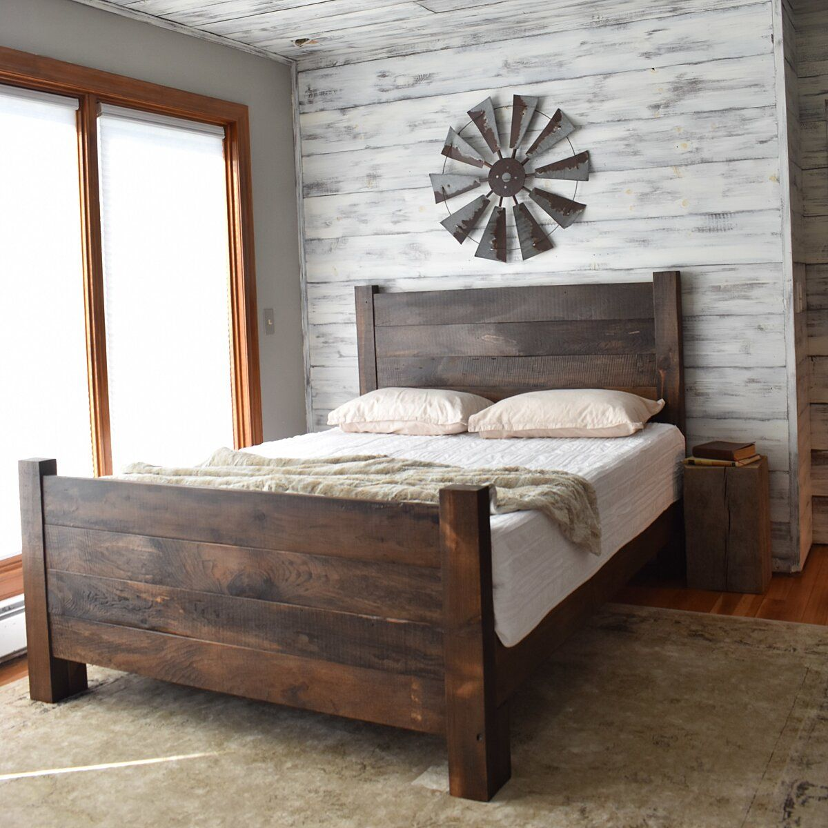 Farmhouse Headboard and Foot board in 2020 Farmhouse