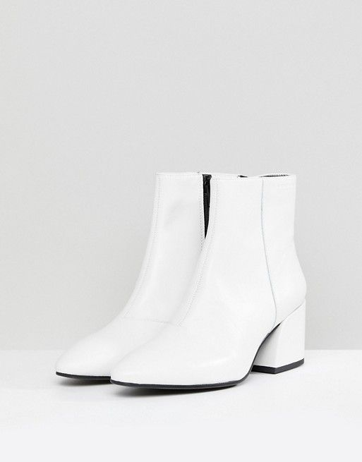 c3ef9698358 Vagabond Olivia White Leather Ankle Boot | Shoes | White leather ...
