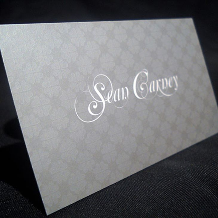 Sean Patrick Carney\'s Metallic Ink and Spot UV Business Cards ...
