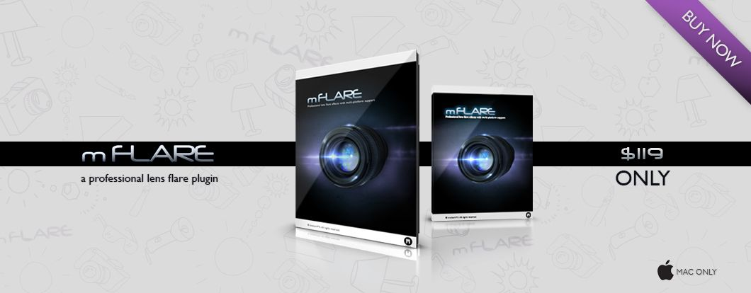 mFlare, Professional Lens Flare Effects Awesome plugin