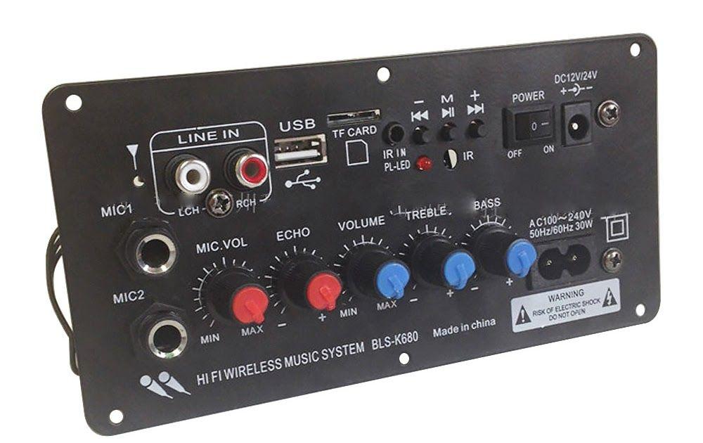 Subwoofer Digital Bluetooth Amplifier Board Dual Microphone Karaoke Amplifiers