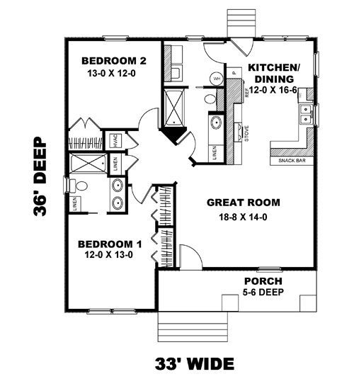 New House Plan HDC 1073 5 Is An Easy To Build Affordable 2 Bed Bath Home Design