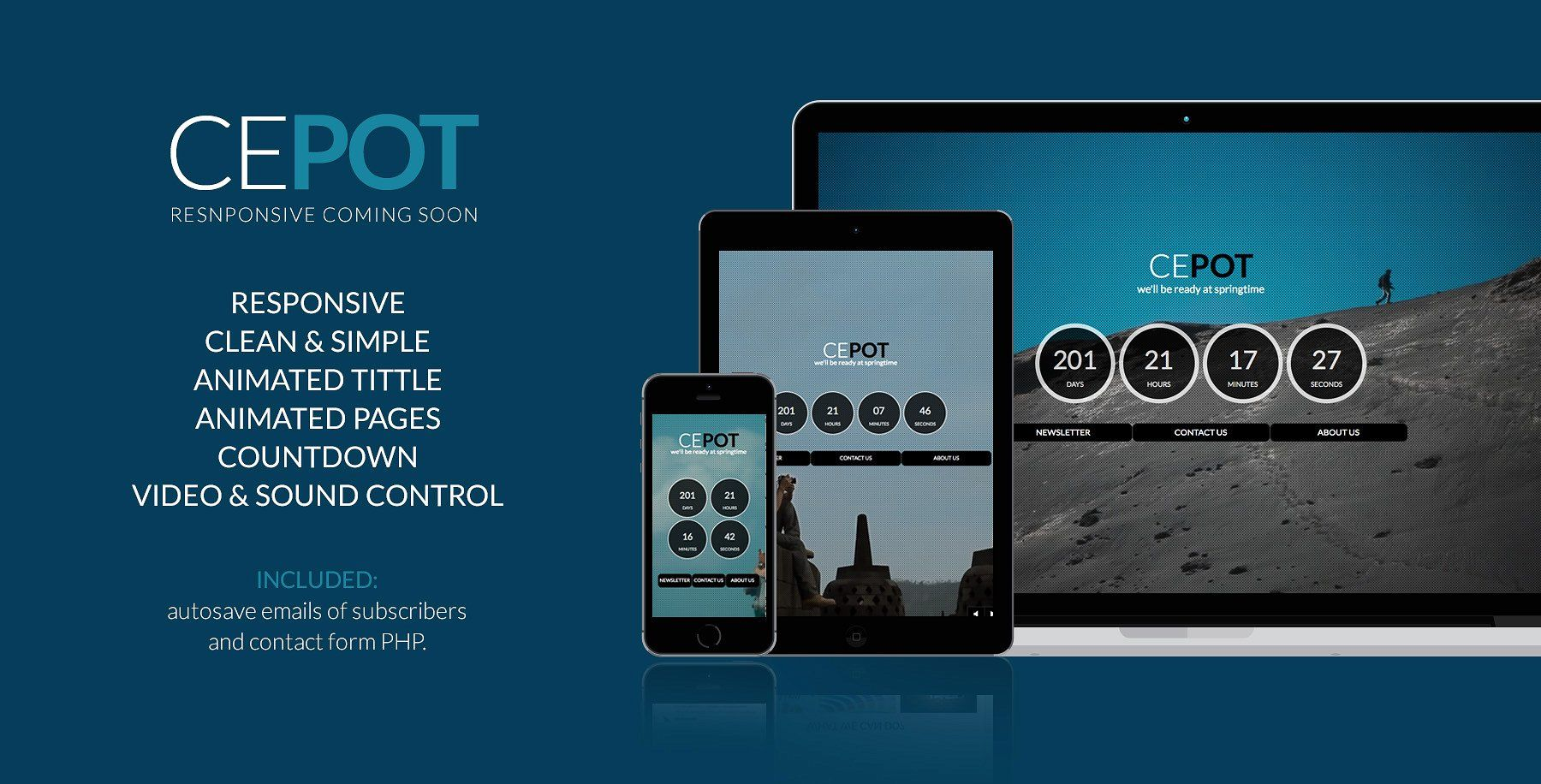 Cepot Coming Soon Video Background Social Information Business
