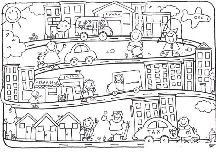Paisajes Urbanos Para Colorear Imagui Paginas Para Colorear Fichas Ciudad Dibujo