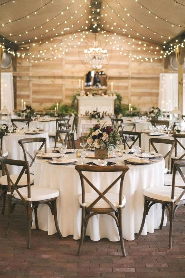 barn wedding lighting #barnweddings