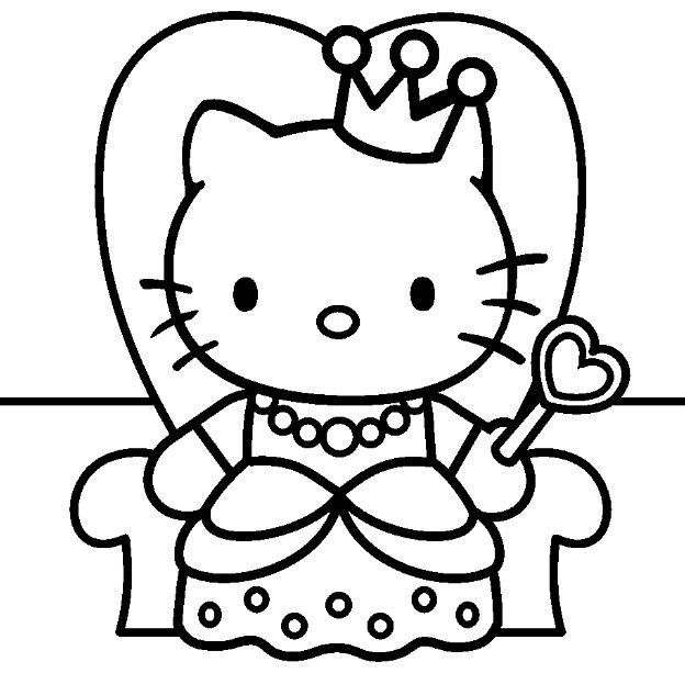 Free Hello Kitty Princess Coloring Page Pages For You To Color Online Or Print Out And Use Crayons Markers Paints