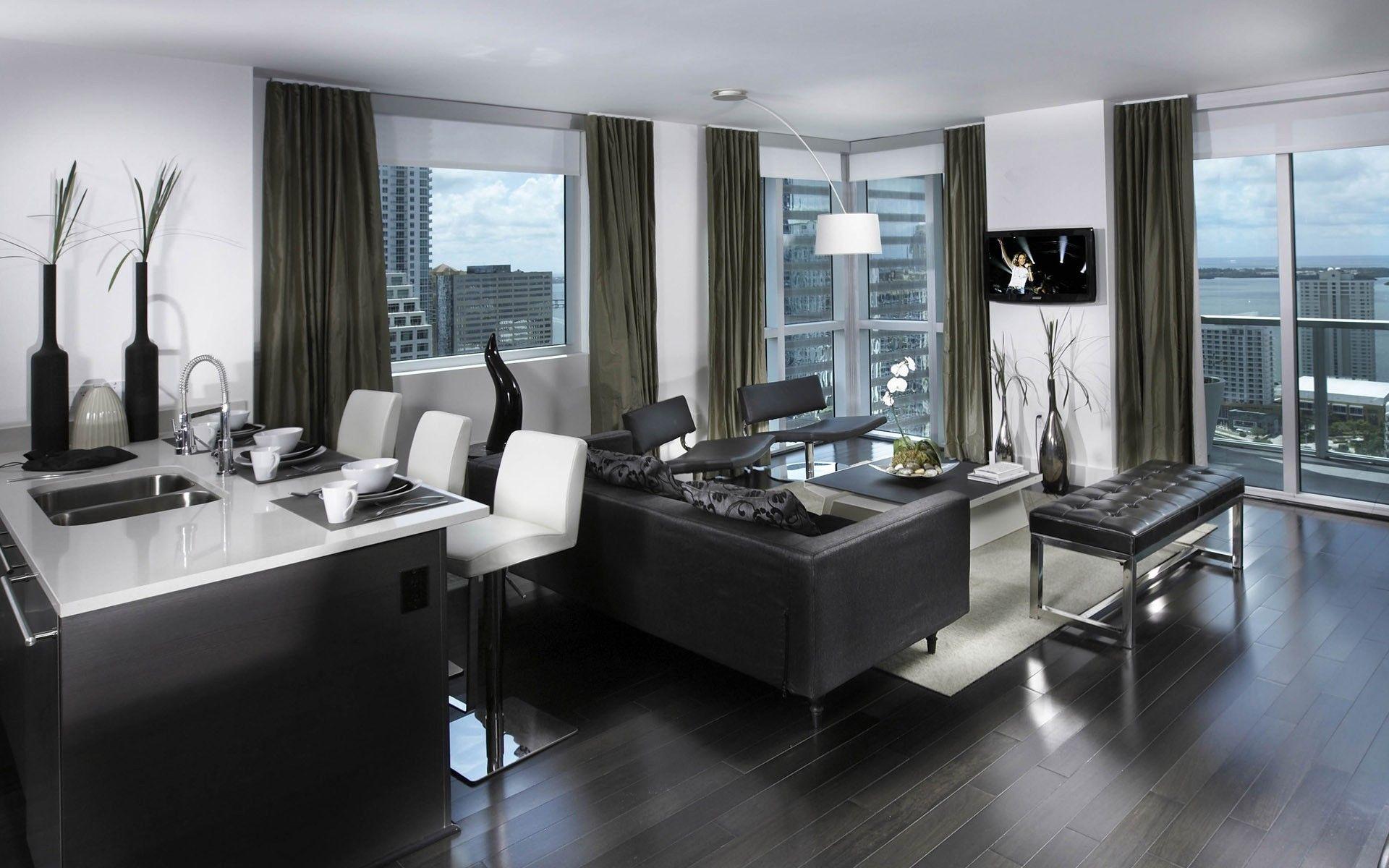 Furniture Elegant Modern Furniture For Small Apartments Black