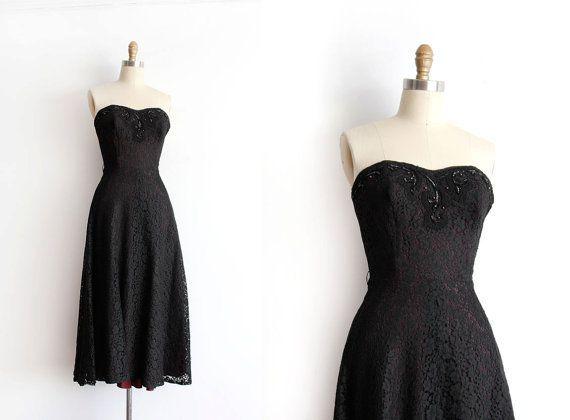 Cool Evening dresses SALE vintage 1950s prom dress // 50s strapless ...