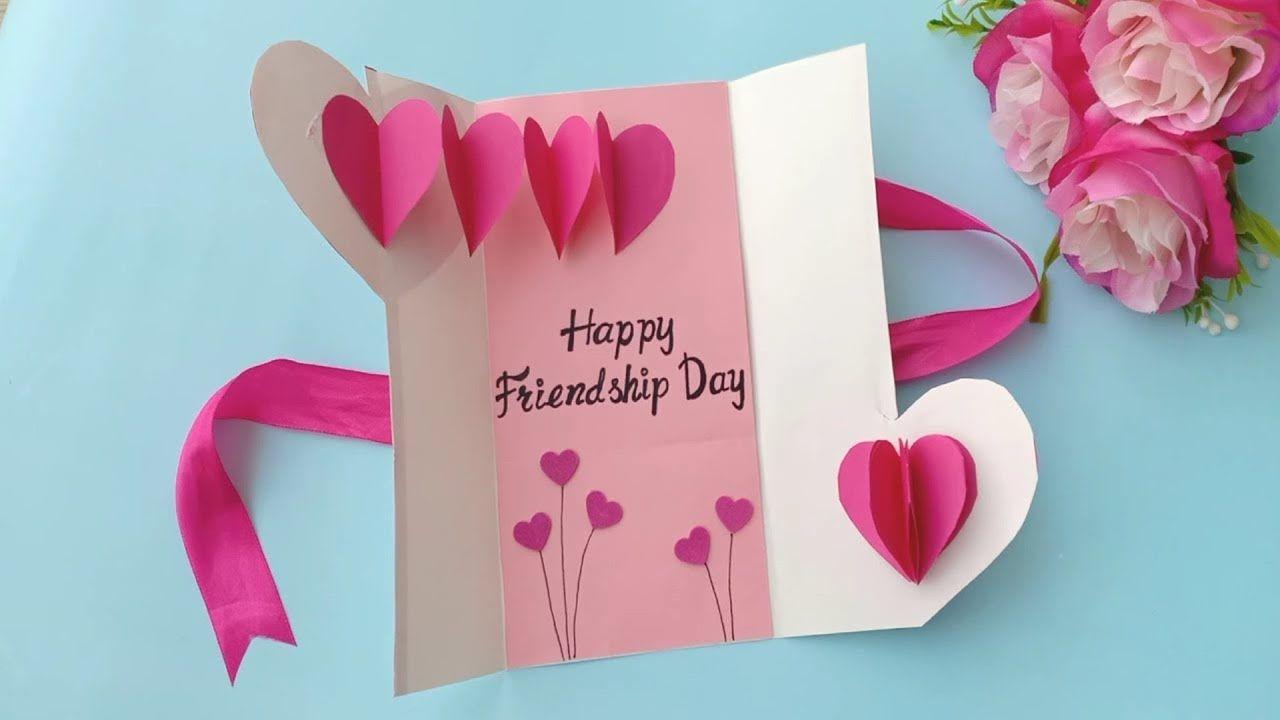 How To Make Friendship Day Card Handmade Easy Card Tutorial