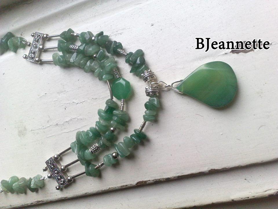 Jade, tibetian silver