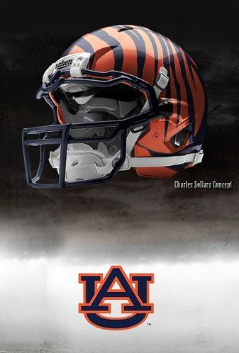 38309ae8c4b Auburn Tigers - Charles Sollars Concept | Auburn | Football, Cool ...