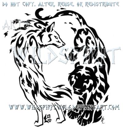 Elemental Wolf And Tiger Design by *WildSpiritWolf on deviantART