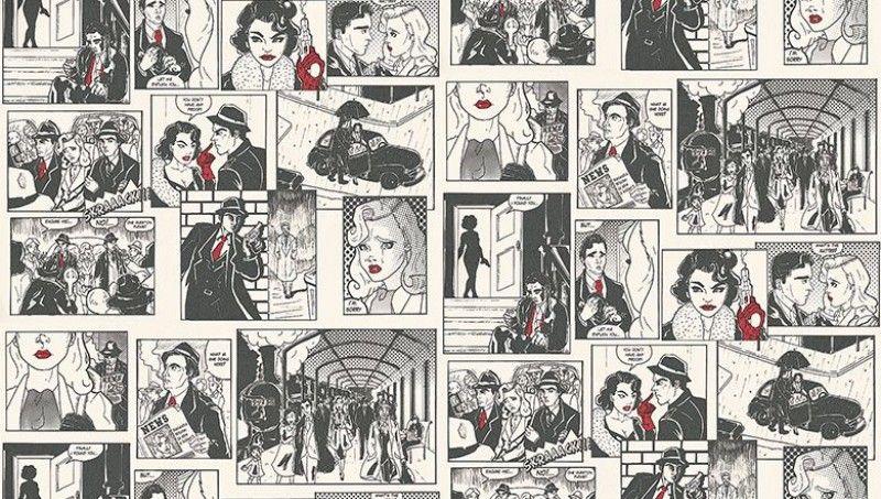 Comic strip 422 1 albany wallpapers a fun black and for Comic book wallpaper mural