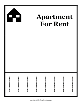 A Printable Flyer For Advertising An Apartment For Rent Free To Download And Print Apartments For Rent Renting A House Apartment Marketing