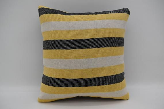 12x12 Pillow Covers Decorative Pillow Small Pillow Striped Pillow Beach Pillow Throw Pillow Yellow Pillow Couch Pillow Mn30x30 211 Yellow Pillows Handmade Pillows Pillow Covers