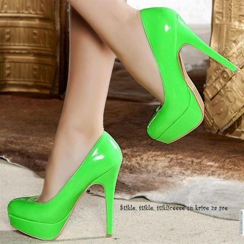 lime green heels | cute close an dresses | Neon high heels ...