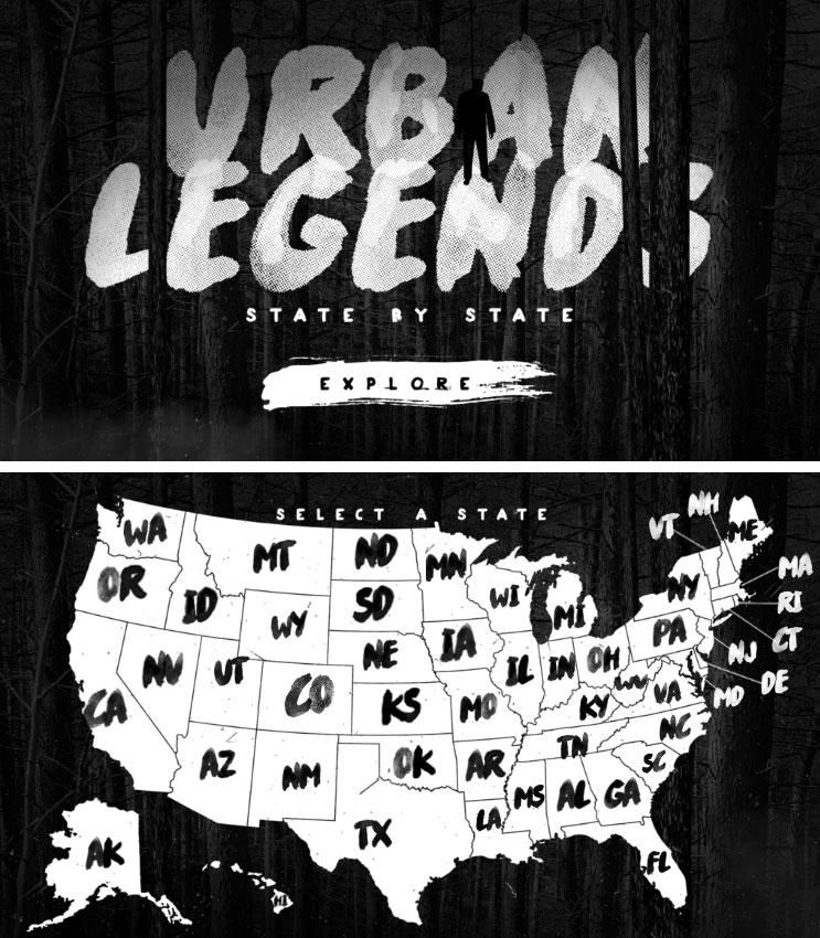 These Are The Craziest Urban Legends From Each State Urban - Map of the us weird locations