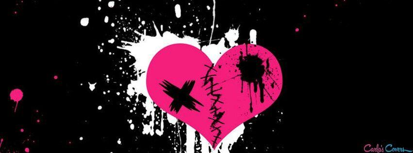 Broken heart FB timeline cover | Broken Hearts | Pinterest | Fb ...
