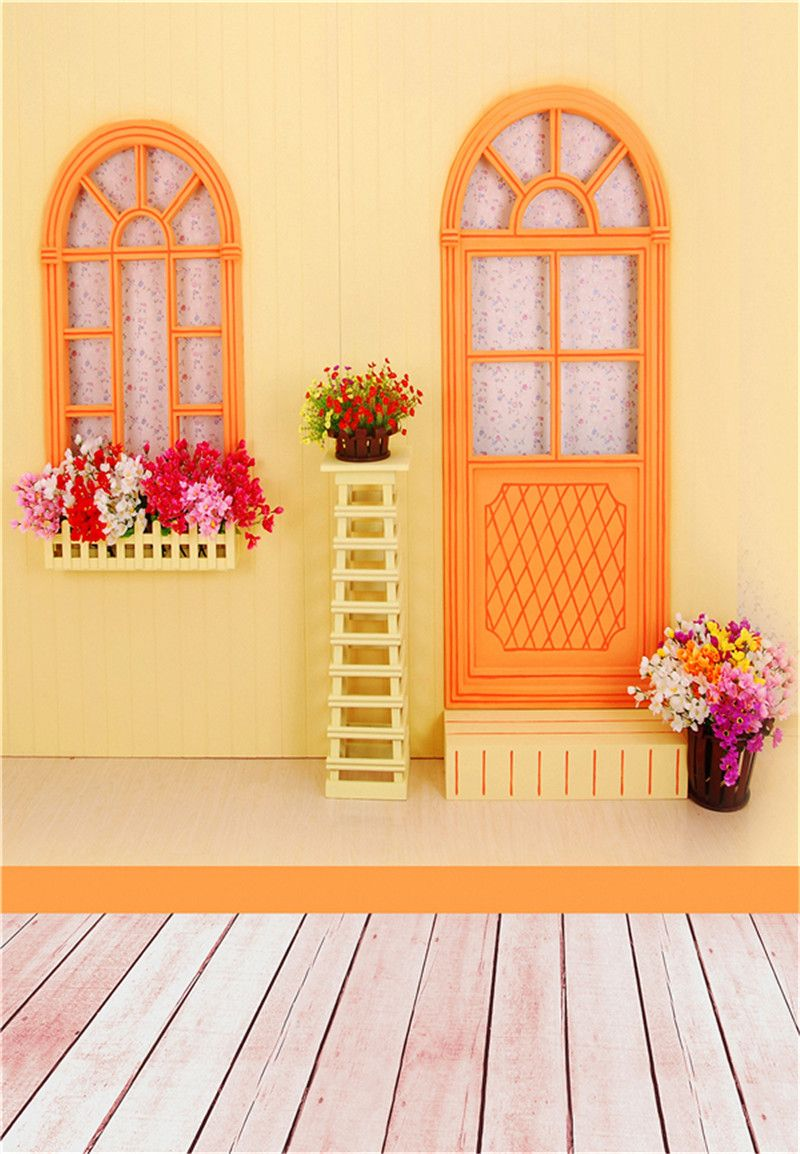 3x5ft flower wood wall vinyl background photography photo studio props - Chic Baby House Background Photo Studio Props Vinyl 5x7ft Or 3x5ft Children Wooden Floor Photography Backdrops