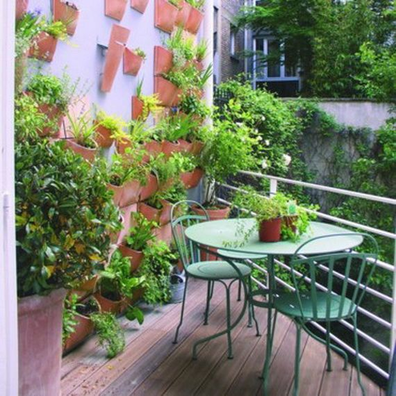 Small balcony design ideas small balcony design balcony for Small terrace garden ideas