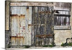 Photo of John Short Premium Thick-Wrap Canvas Wall Art Print entitled Old Wooden Door Of …