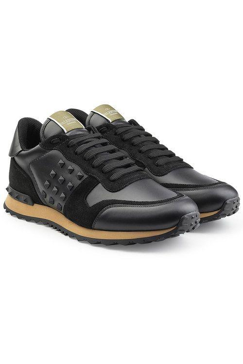 374f8bbe49b #valentino #shoes # Valentino Schoenen, Valentino Rockstud, Lederen Gympen,