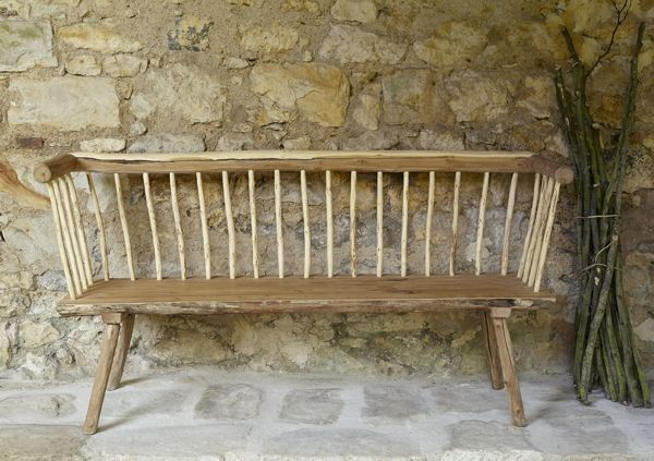 Banc de jardin par botanique editions une gamme de for Fabrication mobilier de jardin en bois
