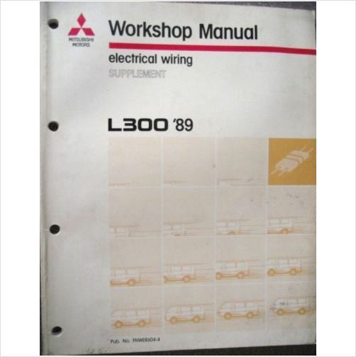 Mitsubishi L300 Electrical Wiring Manual Supplement 1989