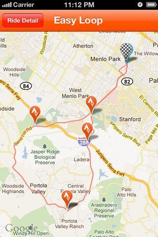 Strava Cycling Iphone App Map Strava Cycling App