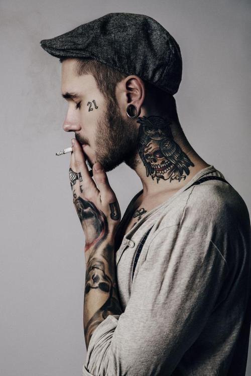 3933e970feb96 guys with cheekbone or neck tattoos = do me. | Skin Art | Tattoo ...