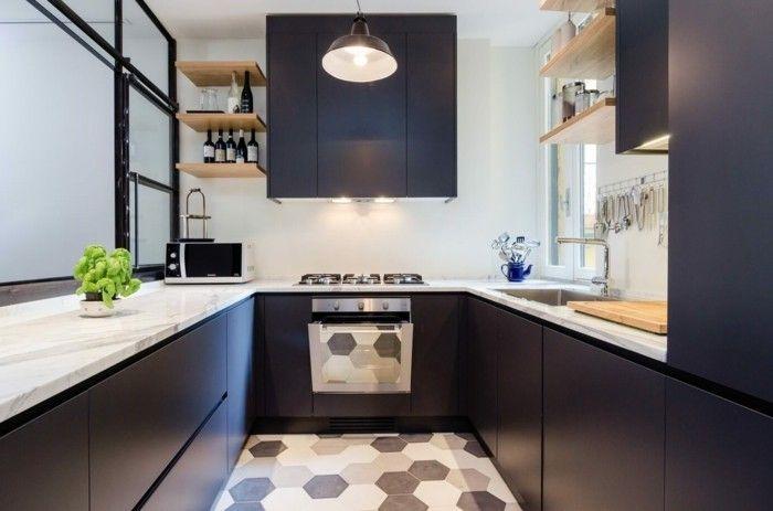 Wunderbar Wohnideen Küche Moderne U Förmige Küche Mit Schönem Boden