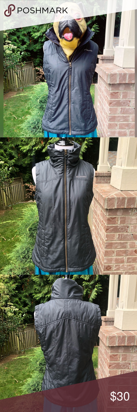 Cozy Chic, COLUMBIA vest!! Warm and comfy. Size is S. See measurements. Zips up ...